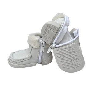 NWT White Vegan Leather Baby Toddler Boot Shoe